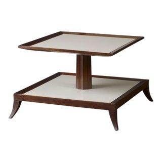Mid-Century Modern Baker Thomas Pheasant Two Tier Tea Table For Sale