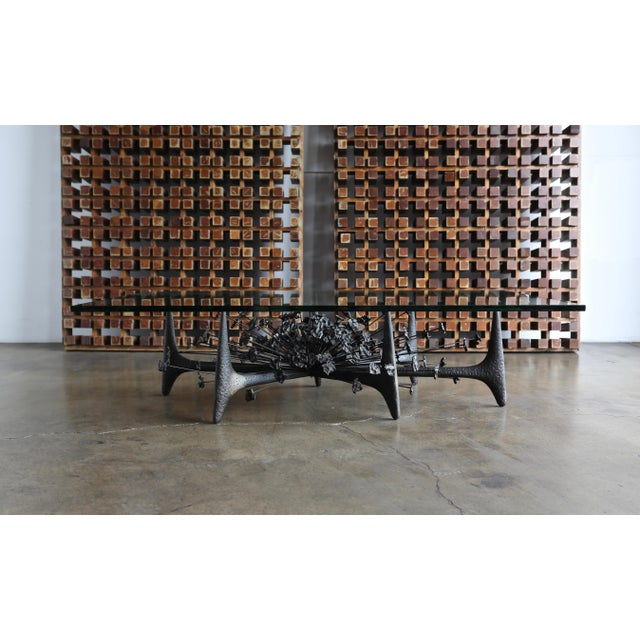 Daniel Gluck Sculptural Coffee Table Circa 1970 For Sale - Image 10 of 12