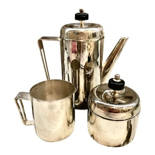 Mid-Century Modern Silverplate Coffee Set For Sale