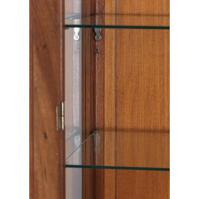 1930s Art Deco Walnut Vitrine/Display Cabinet For Sale - Image 9 of 13