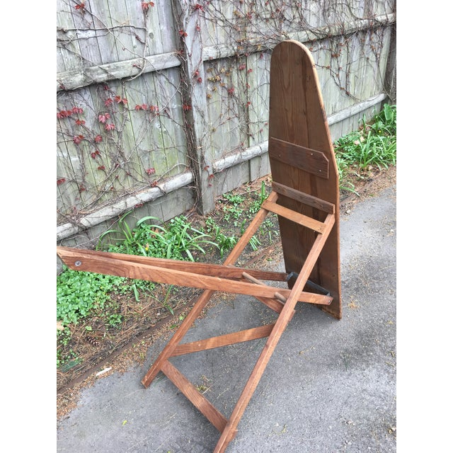 Wood Antique Wooden Ironing Board For Sale - Image 7 of 8 - Antique Wooden Ironing Board Chairish