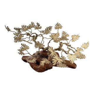Rex Spross Brass Leaf Tree For Sale