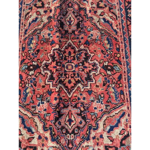 """Vintage Persian Heriz Welcome Mat - 2'5"""" x 3'5"""" - Image 3 of 9"""