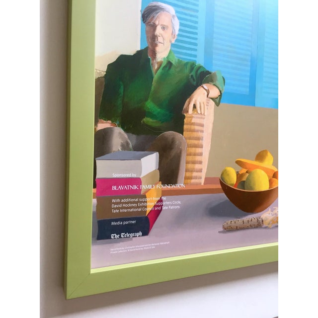 "David Hockney Rare Lithograph Print Tate Britain Framed Pop Art Exhibition Poster "" Christopher Isherwood and Don Bachardy "" 1968 For Sale In Kansas City - Image 6 of 13"