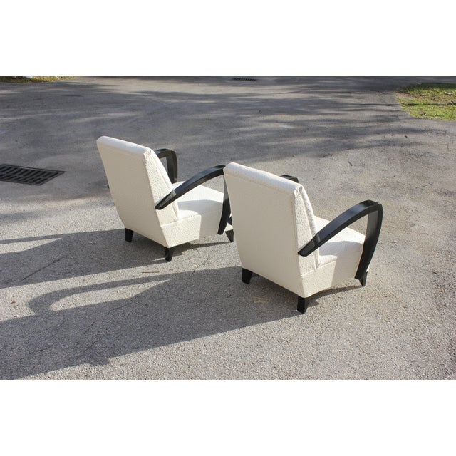 French Art Decor Club Chairs - A Pair - Image 5 of 10
