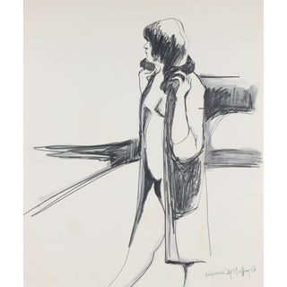 Alysanne McGaffey Bay Area Figurative Sketch in Graphite, Circa 1960 Circa 1950-1960 For Sale