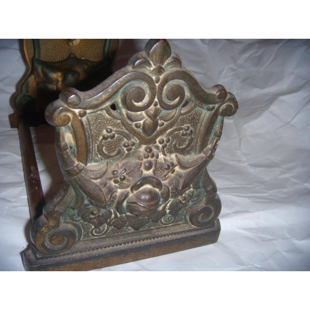 Victorian Expandable Ornate Brass Bookends - Image 7 of 11