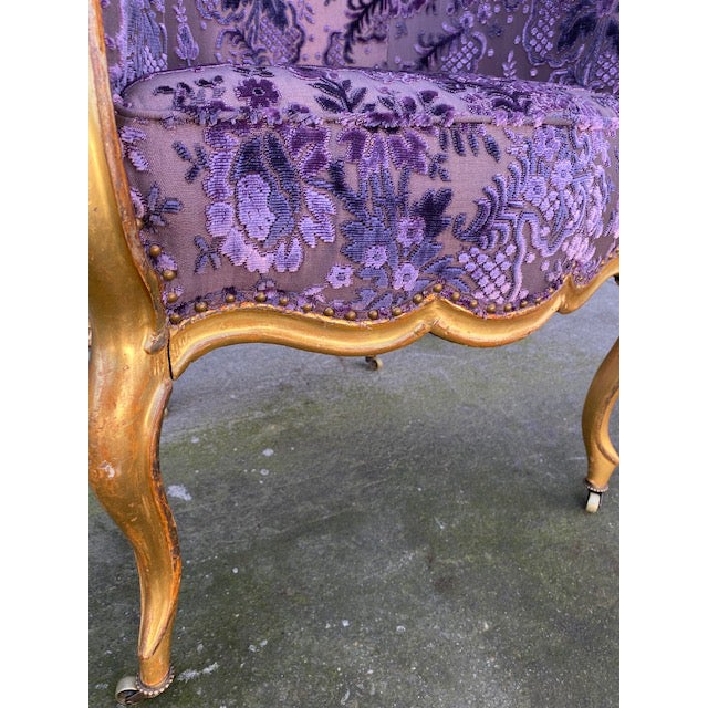 Late 19th Century Late 19th Century Vintage Italian Giltwood Chair For Sale - Image 5 of 13