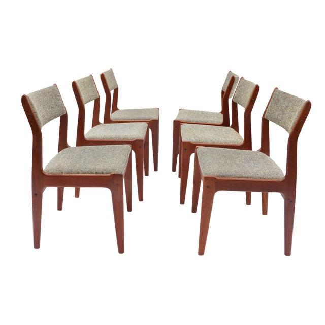 Scandinavian Danish Modern Teak Dining Chairs- S/6 - Image 4 of 10