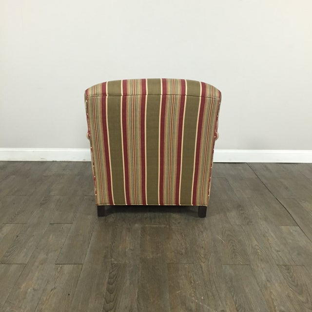 Pottery Barn Striped Armchair - Image 10 of 11