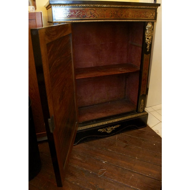 Authentic Meuble Boulle Napoléon III Cabinet - Image 8 of 9