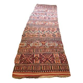 """Antique Turkish Kilim Runner, 1800's, 4' x 13' 5"""""""