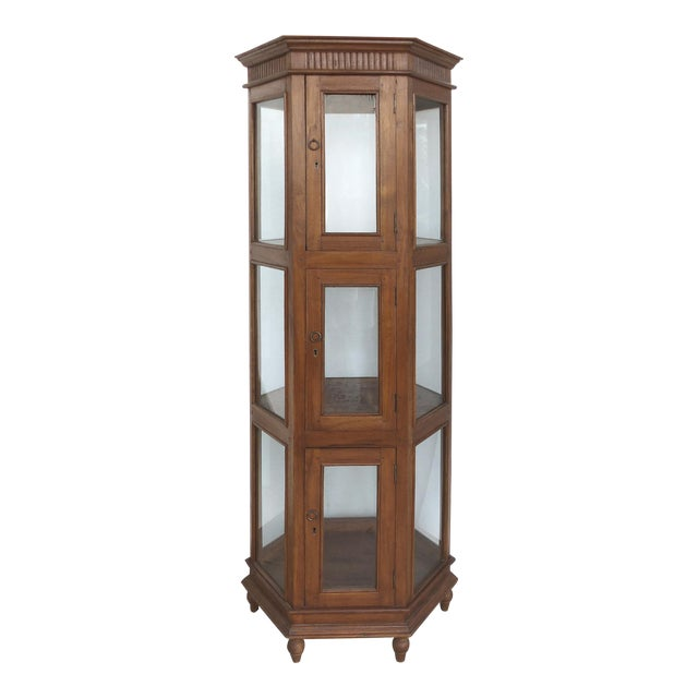 Antique Hexagonal Display Cabinet - Image 1 of 10