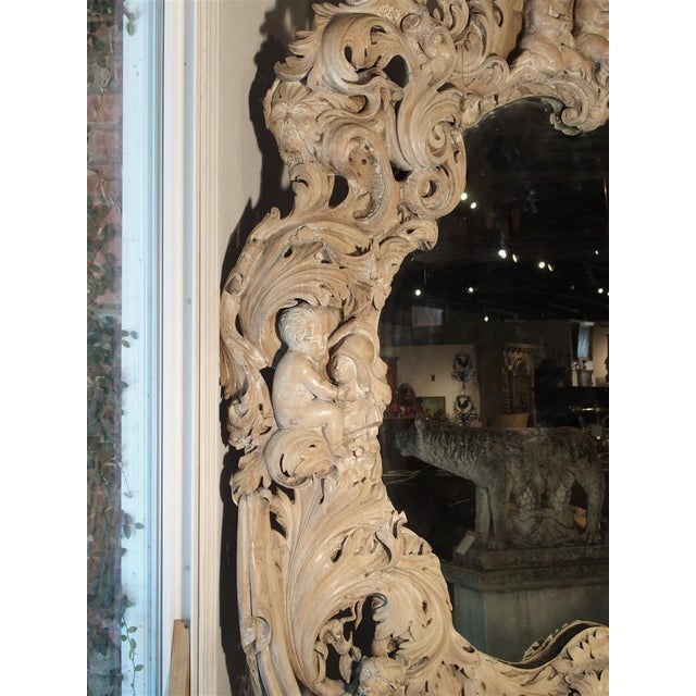 Monumental 19th Century Baroque Mirror from Italy For Sale - Image 4 of 11