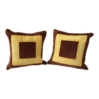 1960s Fortuny Square Pillow - a Pair For Sale