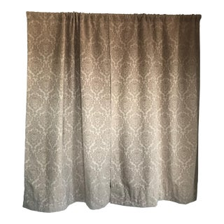 Vintage Gold Raised Damask Curtains - A Pair For Sale
