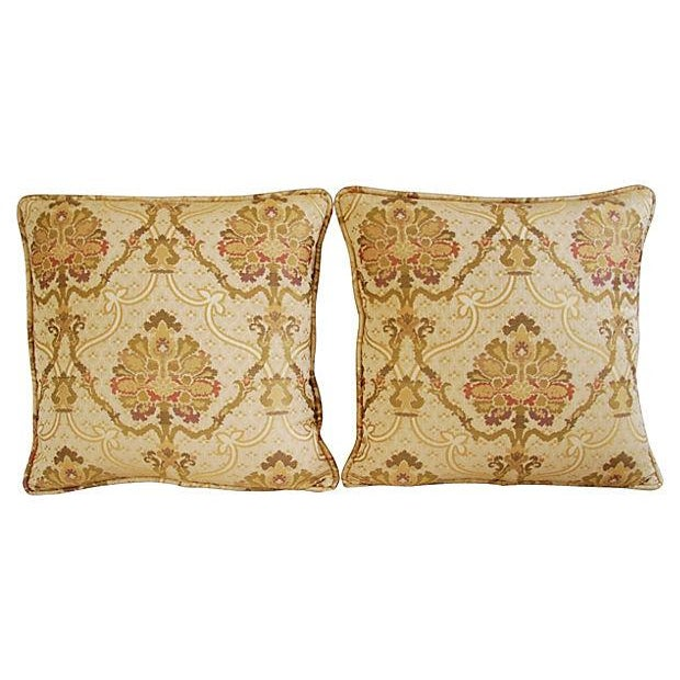 Custom Italian Old World Tapestry Pillows - A Pair - Image 6 of 7