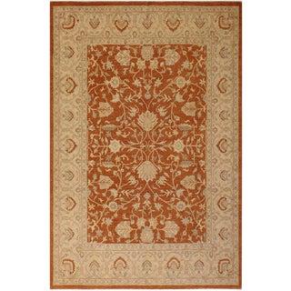 "Contemporary Ziegler Ericka Rust Wool Rug -8' X 9'10"" For Sale"