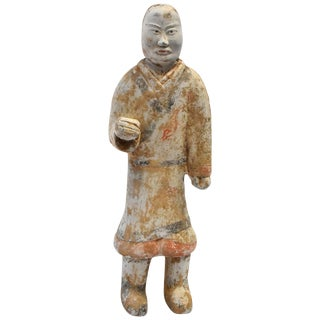 Pottery Figure Man, Han Style Terracotta For Sale