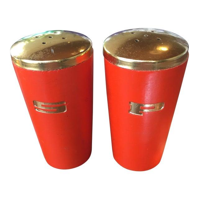 Vintage Orange Salt & Pepper Shakers - Image 1 of 5