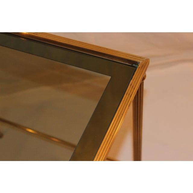 1950's Modern Italian Brass Nesting Tables - Pair For Sale - Image 10 of 10