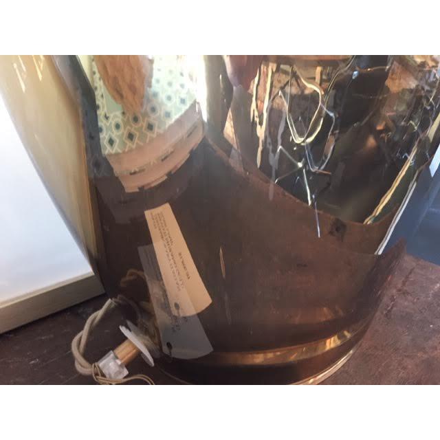 Contemporary Italian Salviati Murano Gold Glass Lamp For Sale In Nashville - Image 6 of 7