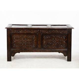 19th Century Scottish Jacobean Carved Oak Trunk Preview