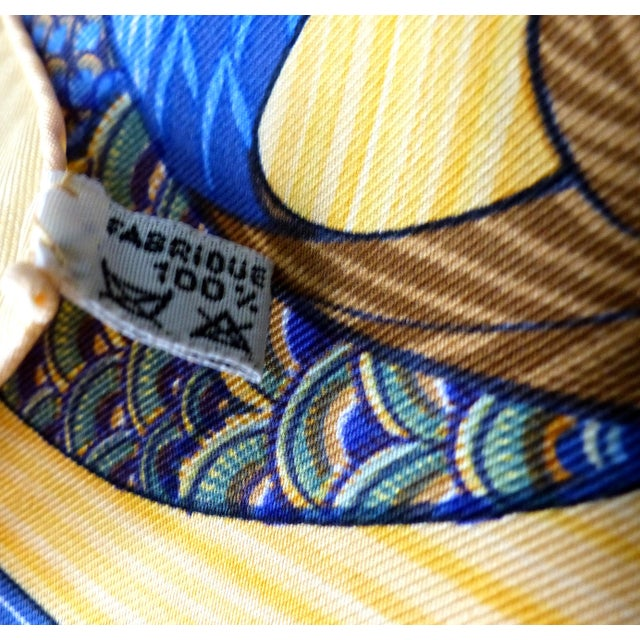 1980s 1981 Unused Hermès La Mare Aux Canards Scarf For Sale - Image 5 of 8