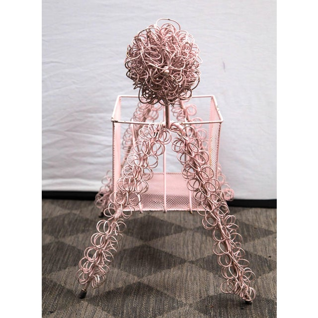 Frederick Weinberg Frederick Weinberg Pink Poodle Magazine Stand For Sale - Image 4 of 7