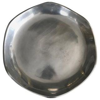 Monumental Nambe Aluminum Serving Platter For Sale