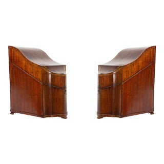 Pair of English Georgian Mahogany Cutlery Boxes For Sale