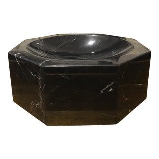 Nero Marquina Black Marble Bowl