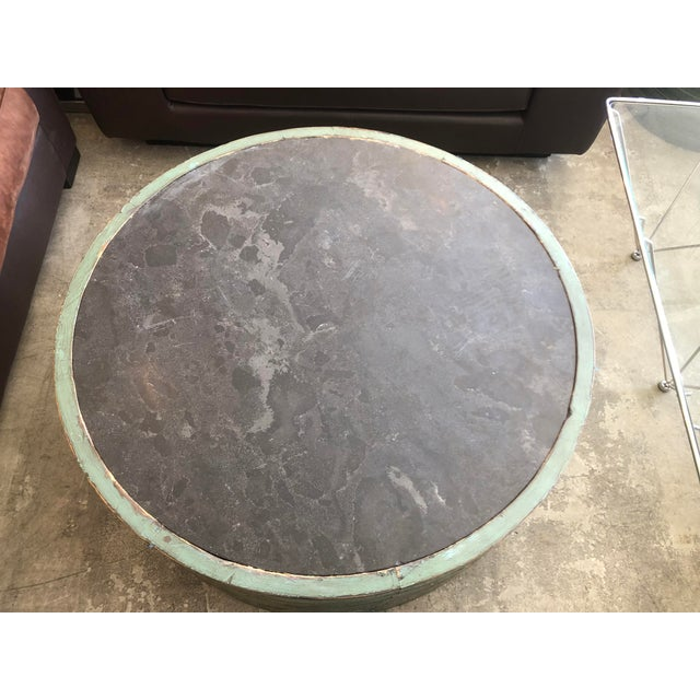 Traditional Transitional Classic Home Stone Top Coffee Table For Sale - Image 3 of 7