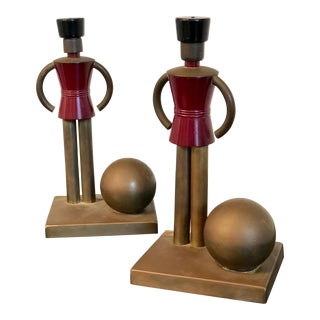 Chase Von Nessen Brass Soldier Bookends - A Pair For Sale