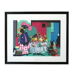 Mid Century Modern Framed Lithograph Signed Romare Bearden 60/175 For Sale