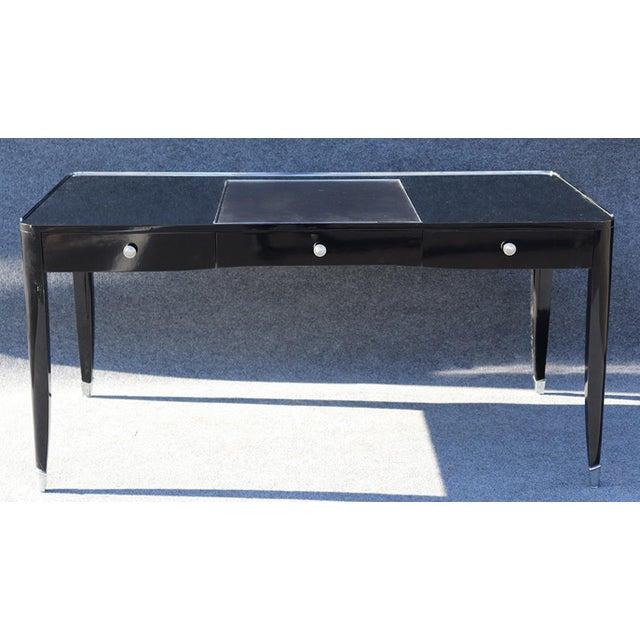 Black Ralph Lauren One Fifth Paris Bureau Plat Writing Table Desk For Sale - Image 11 of 11