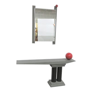 "Glenn Elvig "" Red Ball"" Console & Mirror For Sale"