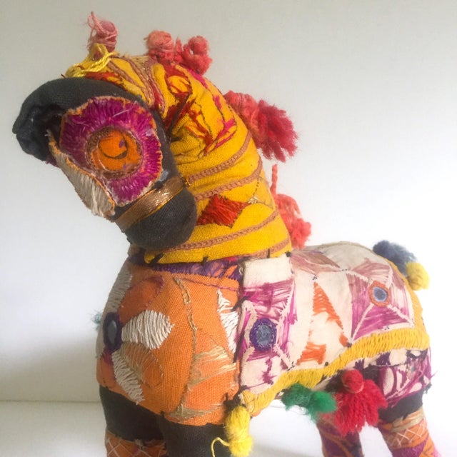 Vintage Indian Patchwork Horse Figurine For Sale - Image 4 of 11