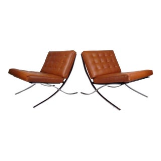 Vintage Modern Barcelona Chairs in the Style of Mies Van Der Rohe For Sale