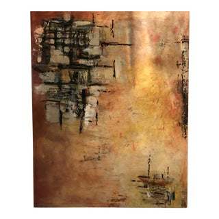 Abstract Mixed Media Painting For Sale