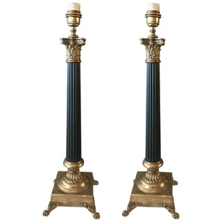 Empire Style Table Lamps - a Pair For Sale