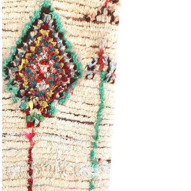 "Vintage Ourika Moroccan Berber Rug - 4'1"" X 7'8"" - Image 3 of 5"