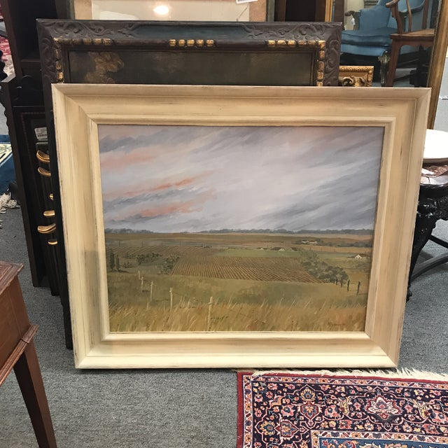 1985 McGuinnis Fall Fields Acrylic Painting For Sale In New York - Image 6 of 6