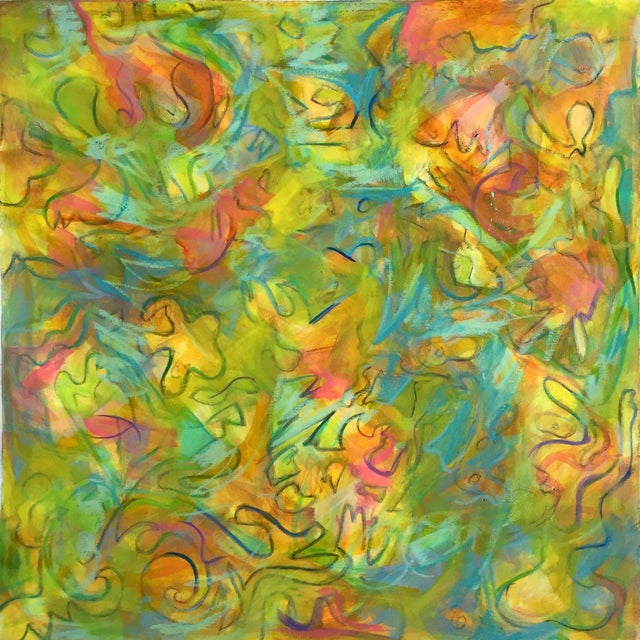 """""""Windy City"""" Abstract Painting by Trixie Pitts - Image 3 of 4"""