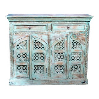 Bohemian Style Hand Carved Buffet Credenza
