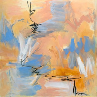 """""""Embers"""" by Trixie Pitts XL Abstract Expressionist Oil Painting For Sale"""