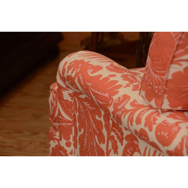 Classic English Style Club Chair in Scalamandre - Image 5 of 6