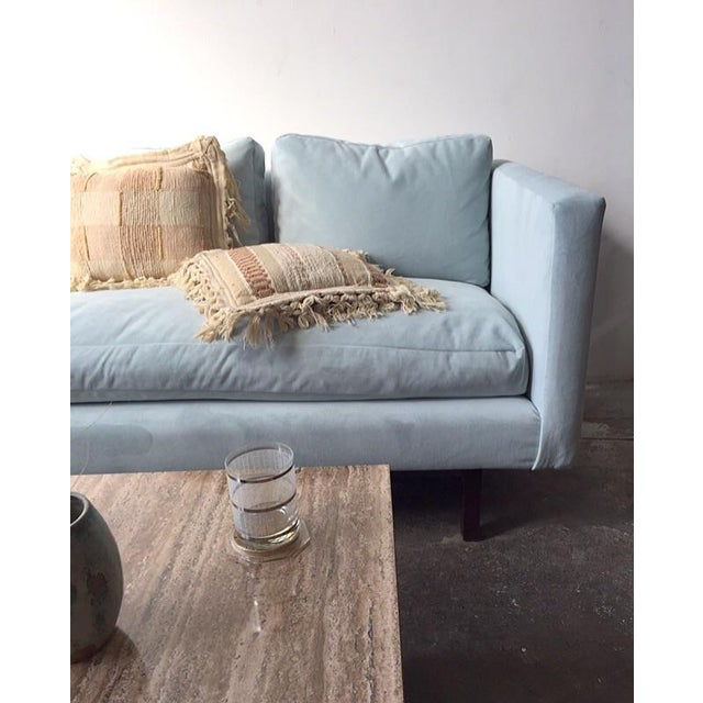 Mid-Century Rosewood Sofa in Mint Microsuede - Image 10 of 10