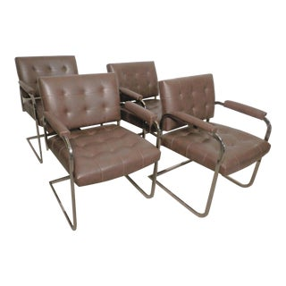 Set of Tufted Mid-Century Chairs by Patrician For Sale