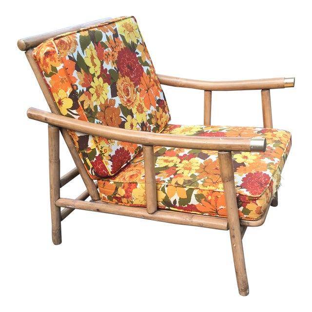 John Wisner for Ficks Reed Rattan Chair For Sale